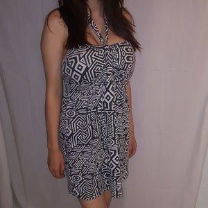 Large Full Tilt  Halter Dress Black & White
